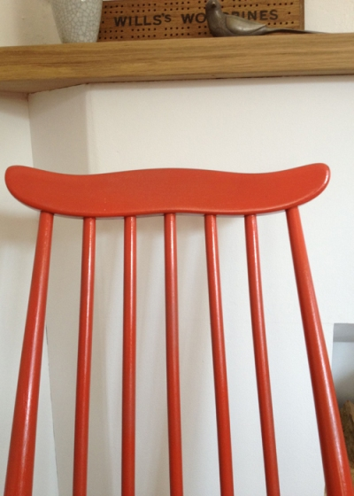 Ercol Goldsmith Chairs Coral Detail
