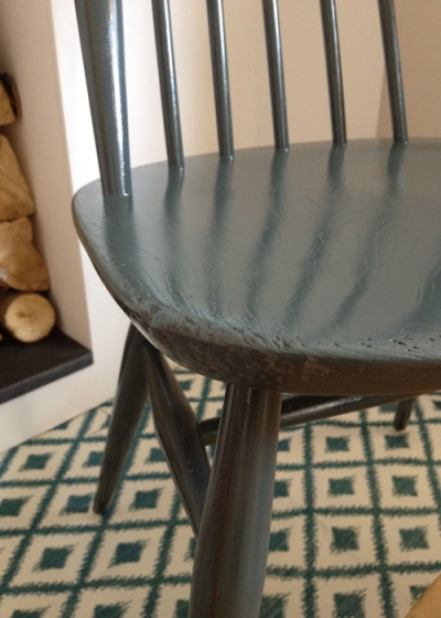 Ercol Goldsmith Chairs Grey Chair Seat Detail
