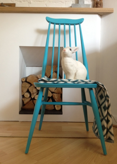 Ercol Goldsmith Chairs with Bunny Lamp
