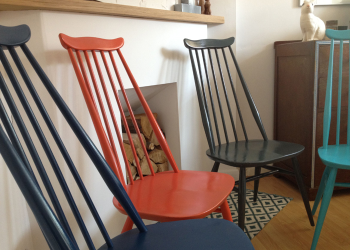 Ercol Goldsmith Chairs X 4 Side