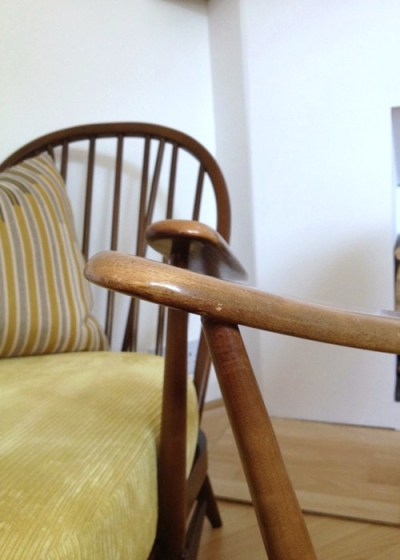 Ercol Windsor Armchair Arm Detail