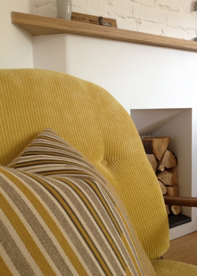 Ercol Windsor Armchair Back Cushion Detail
