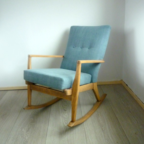 Parker Knoll Rocking Chair PK 973-4 Blue Front