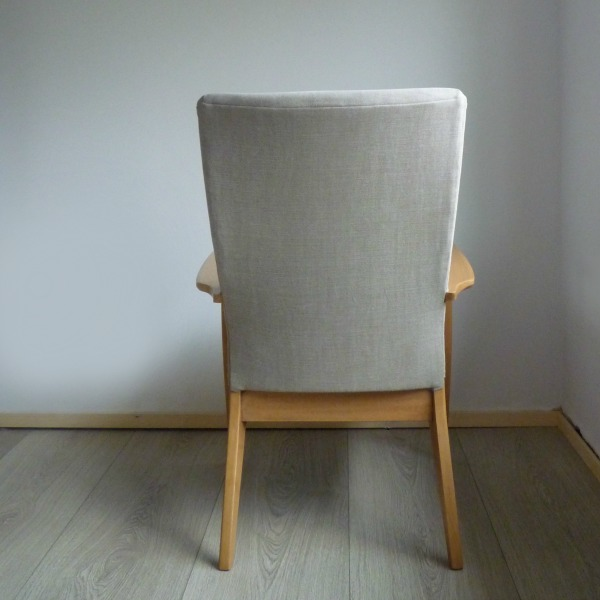 Grey Parker Knoll Chair PK 988 - 1026 Back