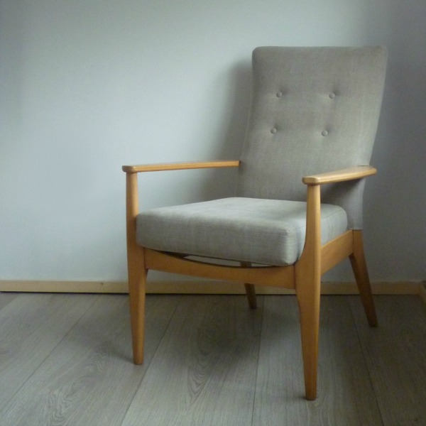 Grey Parker Knoll Chair PK 988 - 1026