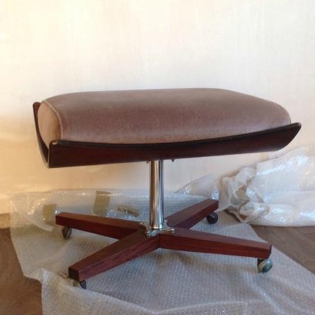 Vintage G Plan 6251 6250 Footstool Ottoman Before Restoration