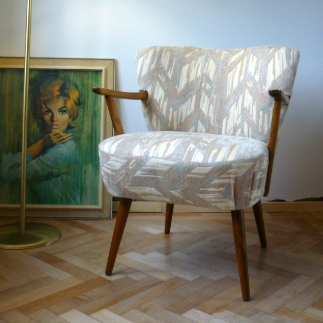 Cocktail Vintage Armchair with Arms