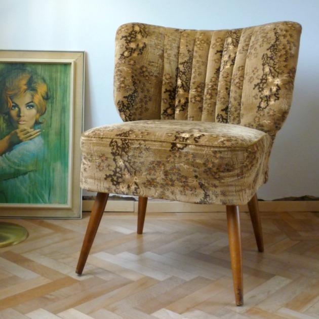 Large Danish Vintage Cocktail Chair