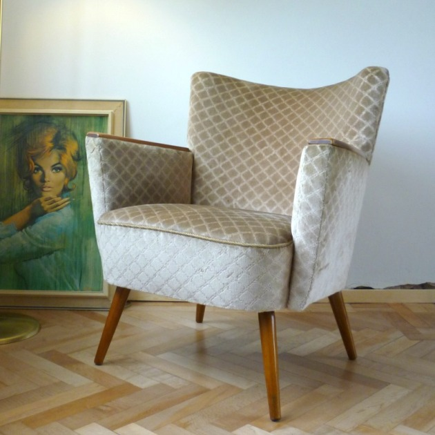Vintage Danish Cocktail Armchair