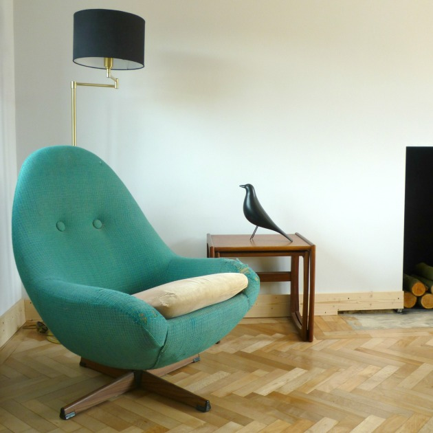 1960s Vintage Greaves & Thomas Swivel Egg Chair