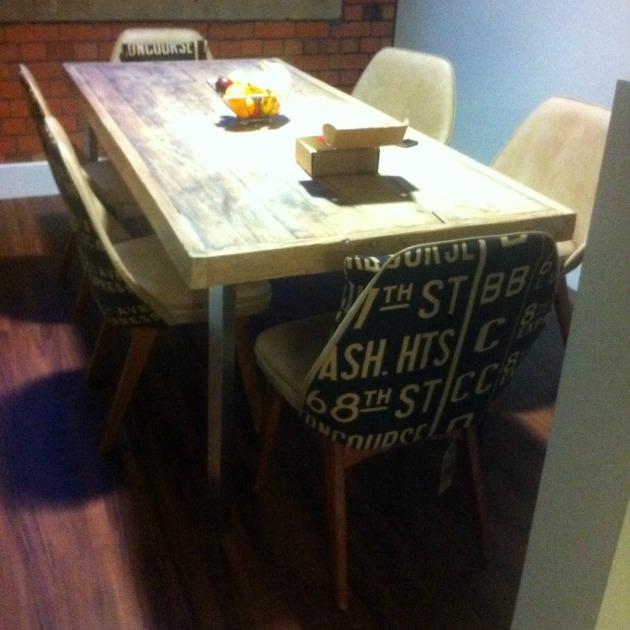 Benchairs at table