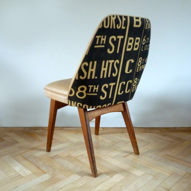 Restored Retro Benchair Dining Chair Andrew Martin Concourse Back