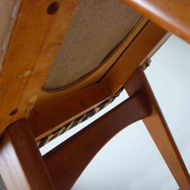 Restored Retro Benchair Dining Chair Andrew Martin Concourse Under