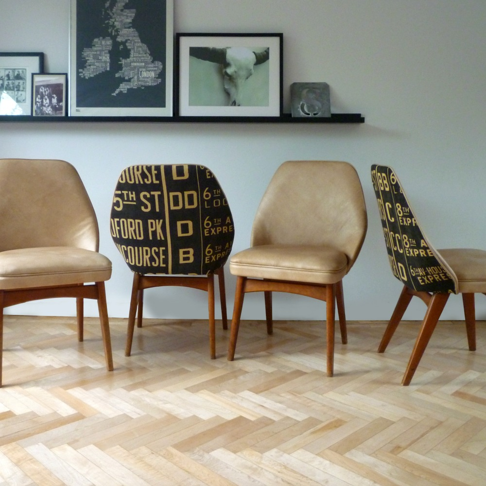 Retro Dining Room Chairs: Bespoke Reupholstery Project For A Set Of Retro Benchair