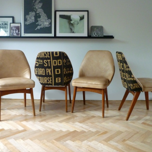Restored Retro Benchair Dining Chairs Andrew Martin Concourse
