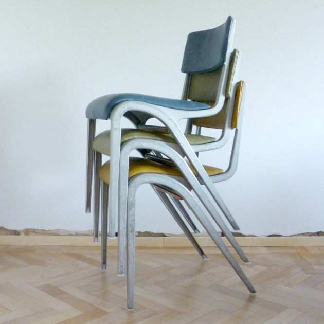 Stacked Vintage Esavian Chairs