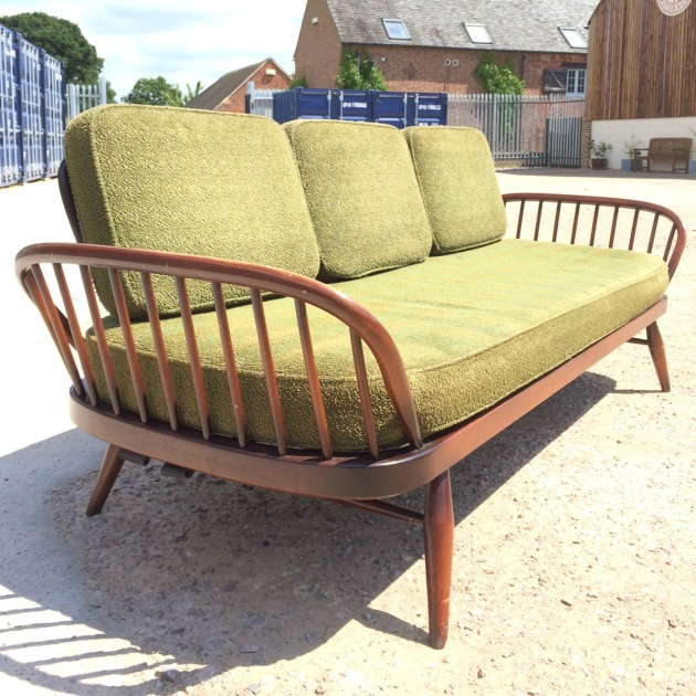 Vintage Ercol Studio Couch 355 Daybed Retro