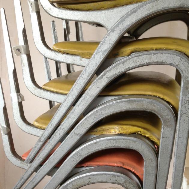 Vintage Esavian chair frames before restoration Florrie+Bill