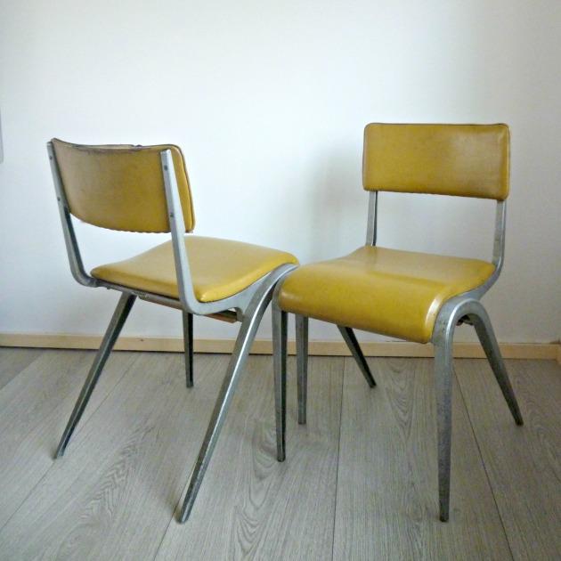Vintage Esavian chairs before restoration