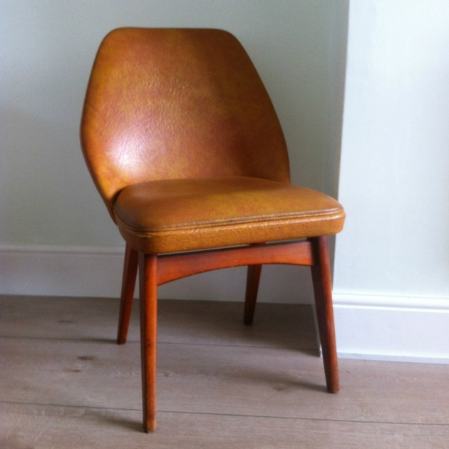 Vintage Retro Benchair before Restoration in Vinyl