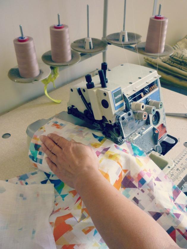 Overlocking Flock Geometric Rachel Parker Fabrics