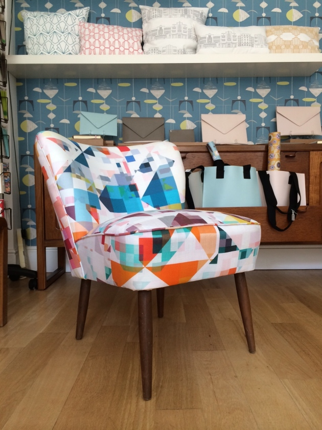 Vintage Cocktail Chairs by Florrie and Bill Ink and Thread Derby