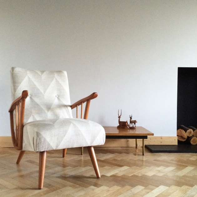 Vintage Chair - Pair of Danish Harp Armchair Florrie and Bill
