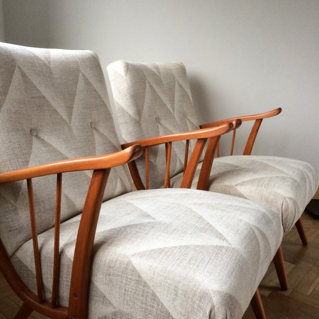 Vintage Chair - Pair of Danish Harp Armchair Florrie and Bill