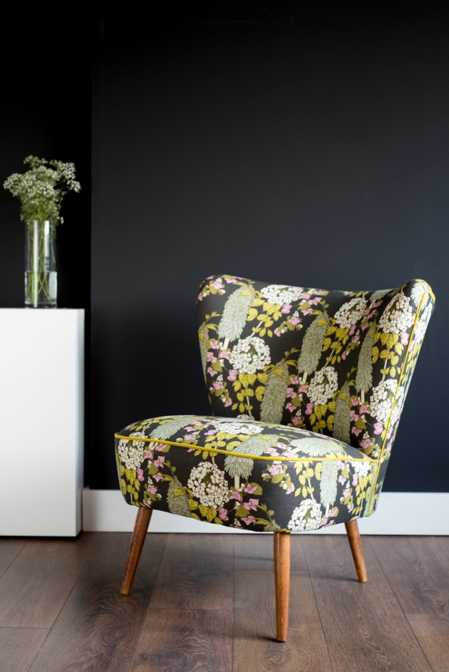 Florrie+Bill Abigail Borg Polka Polka Vintage Cocktail Chair Lifestyle Black Wall